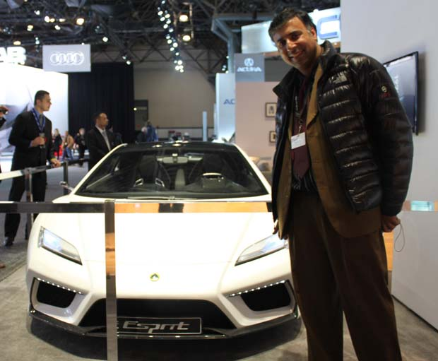 Dr.Abbey with 2012 Lotus Esprit