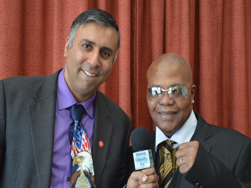 Dr.Abbey with Aaron Hawk Pryor Former Boxing great