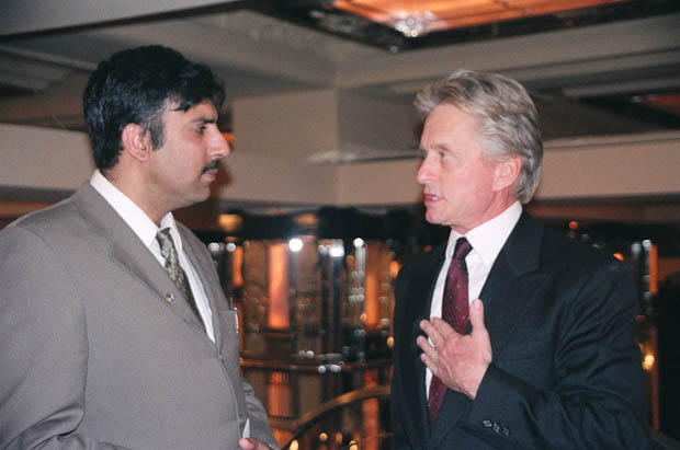 Dr.Abbey with Academy Award Winner Michael Douglas