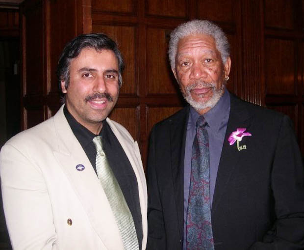 Dr.Abbey with Academy Award winner Morgan Freeman