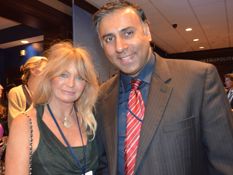Dr.Abbey with Academy winning Actress Goldie Hawn