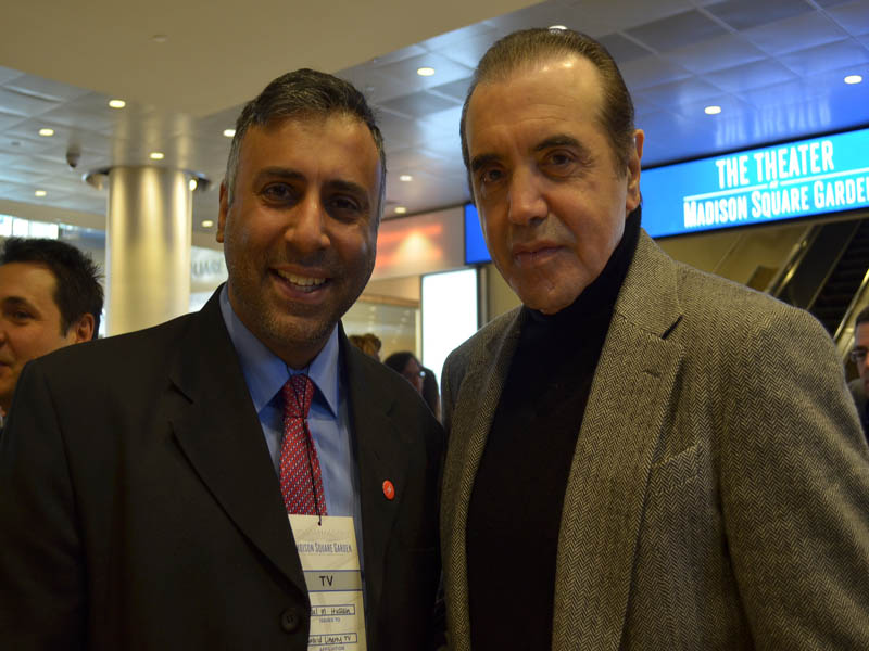Dr.Abbey with  Actor Chazz Palminteri