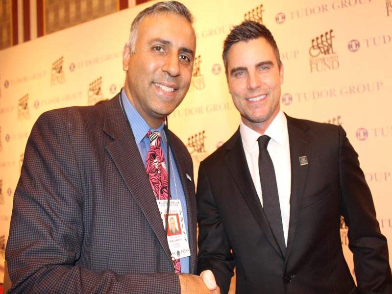 Dr.Abbey with Actor Colin Egglesfield