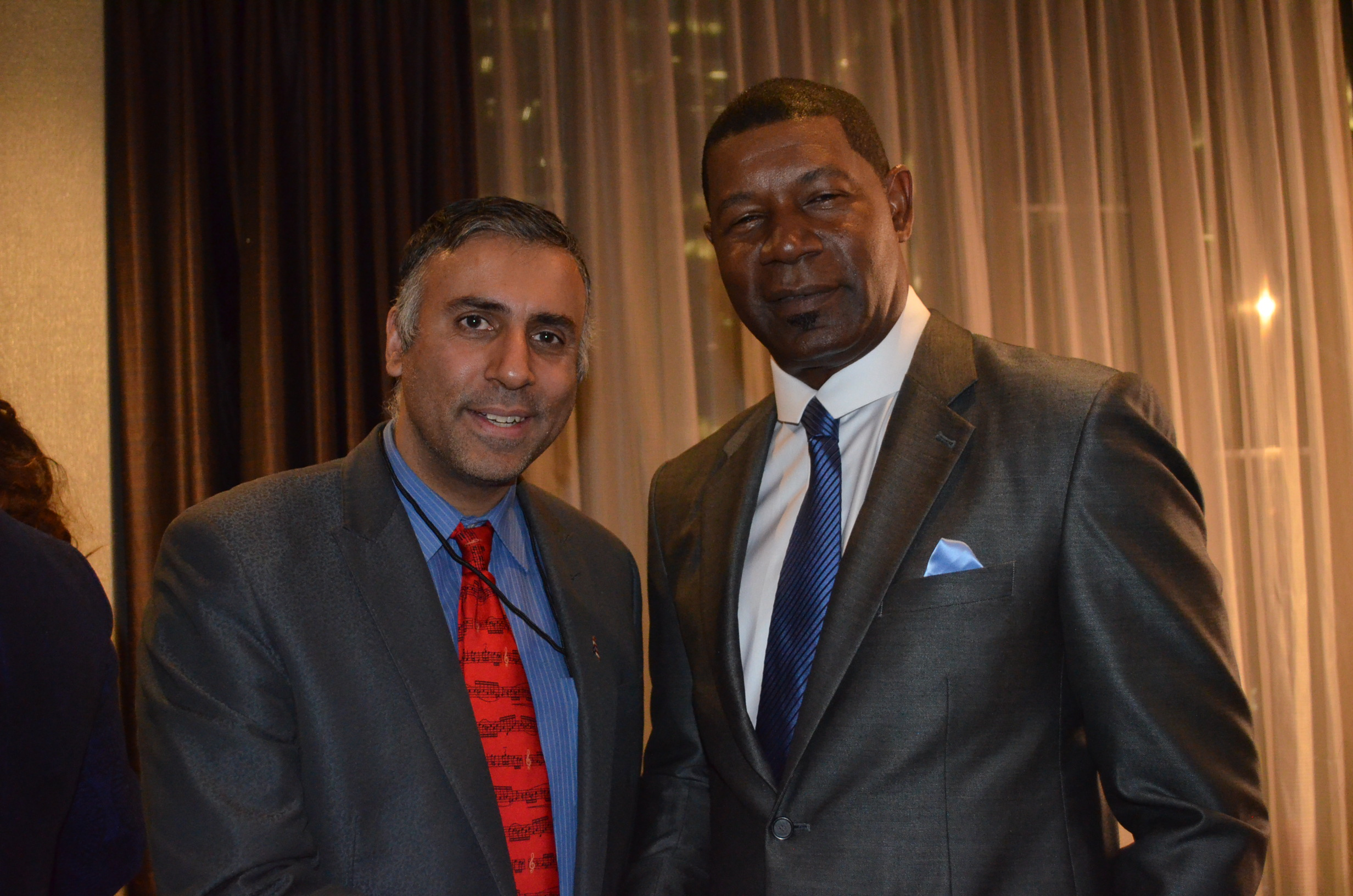 Dr.Abbey with Actor Dennis Haysbert