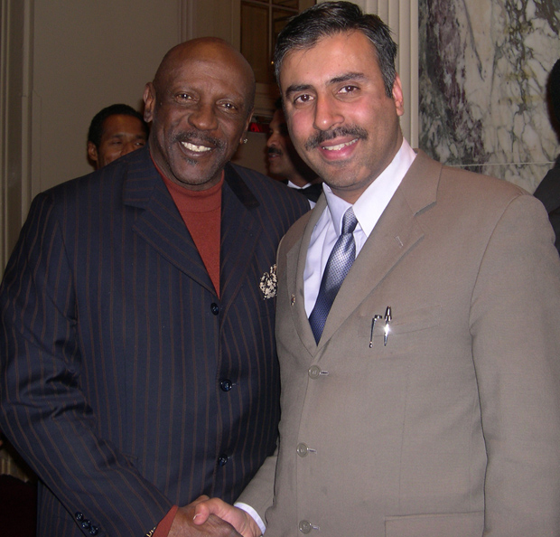 Dr.Abbey with Actor Lou Gossett Jr