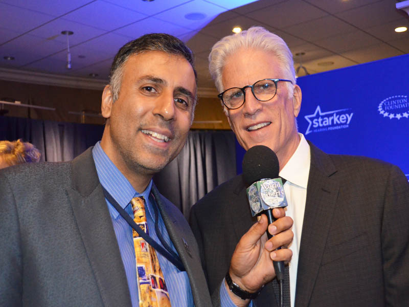 Dr.Abbey with Actor Ted Danson
