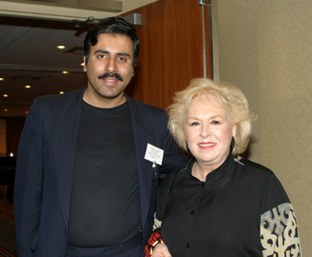 Dr.Abbey with Actress Doris Roberts