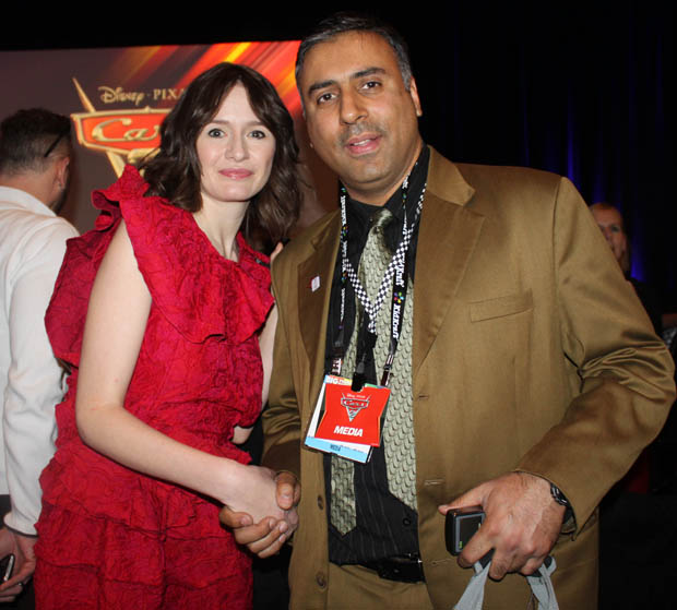 Dr.Abbey with Actress Emily Mortimer
