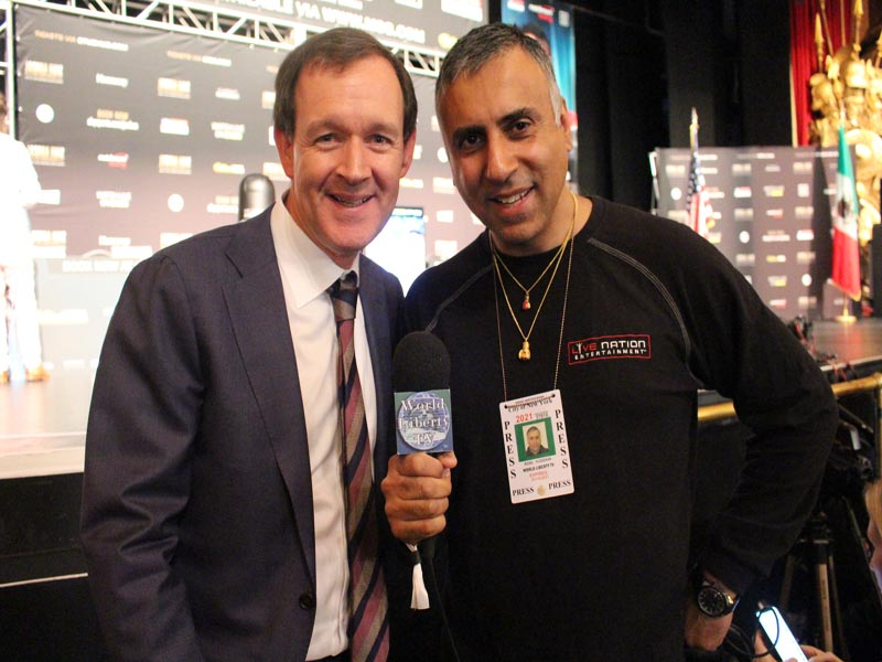 Dr.Abbey with Adam Smith Head of Boxing at Sky Sports