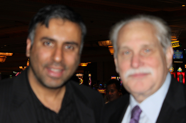 Dr.Abbey with Al Bernstein Announcer for Showtime Boxing