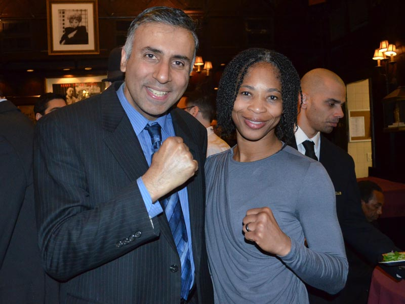 Dr.Abbey with Alicia Ashley WBC Womens Boxing Champ