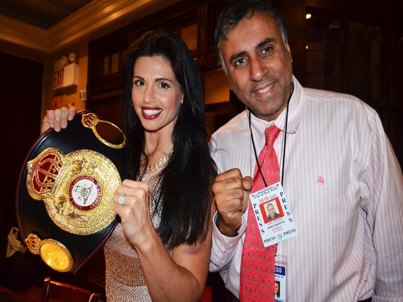 Dr.Abbey with Alicia Napolean Womens WBA Supermiddlewight Champion