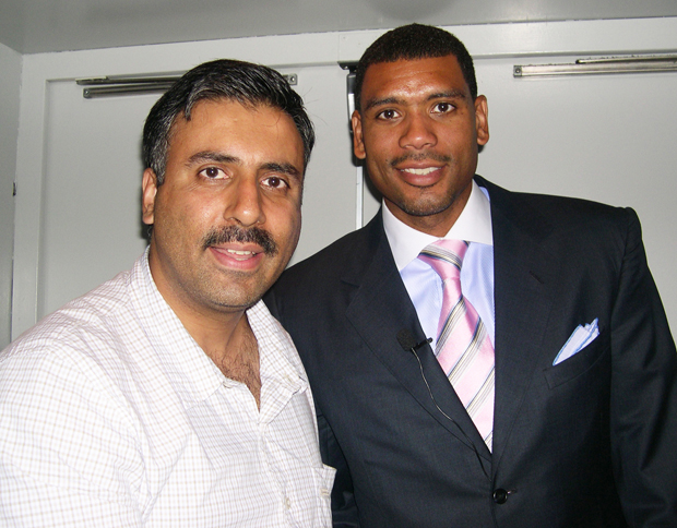 Dr.Abbey with Allan Houston Former Knicks Player