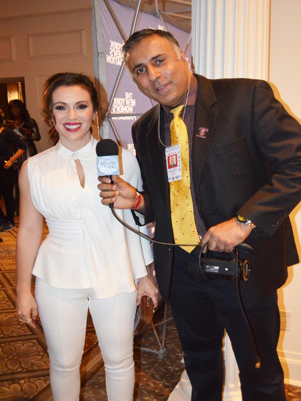 Dr.Abbey with Alyssa Milano Actress and Activist