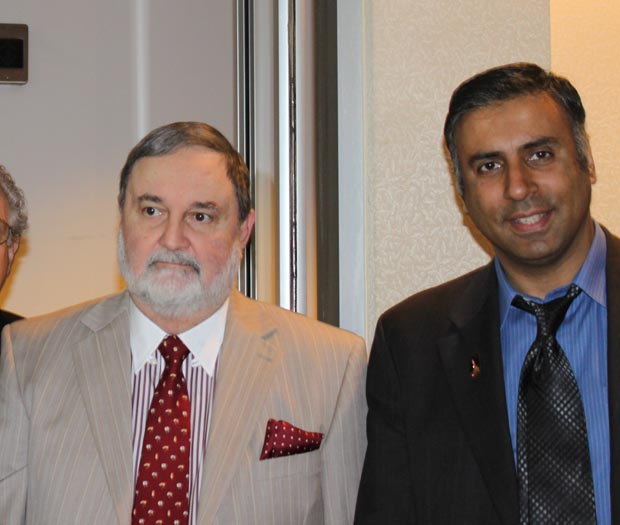 Dr.Abbey with Amb. Masood Khan  of Pakistan to the United Nations
