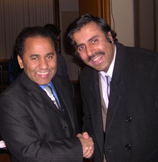 Dr.Abbey with  Andre Aquinos President and Organizer of USA Fashion Shows