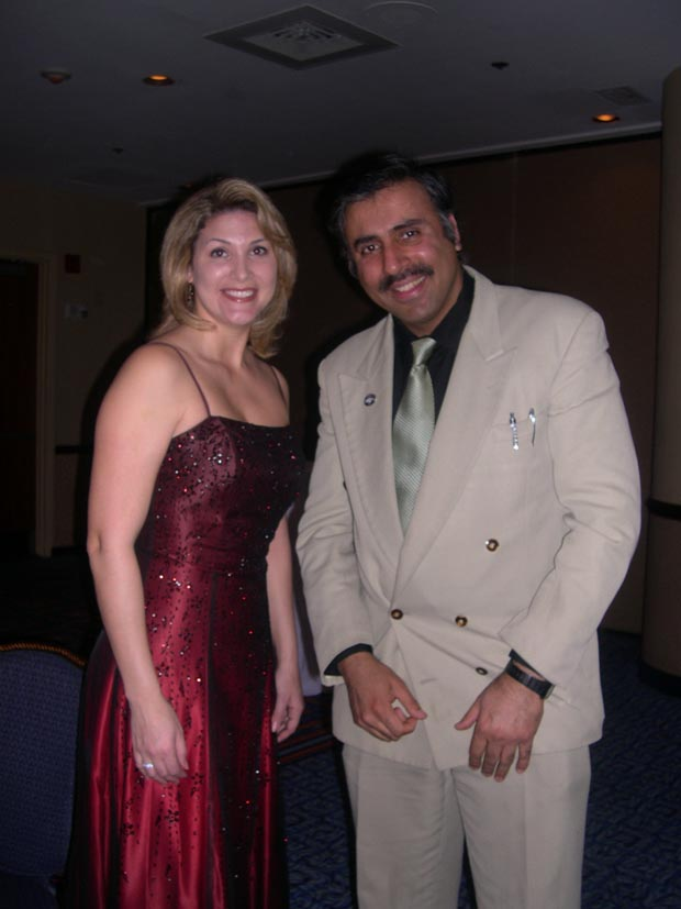 Dr.Abbey with  Angela Gonzalez Rowe President Hispanic Hotel Owners Assoc