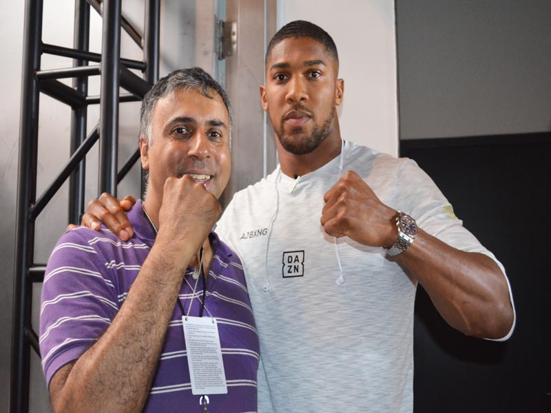 Dr.Abbey with Anthony Joshua World Heavyweight Boxing Champion