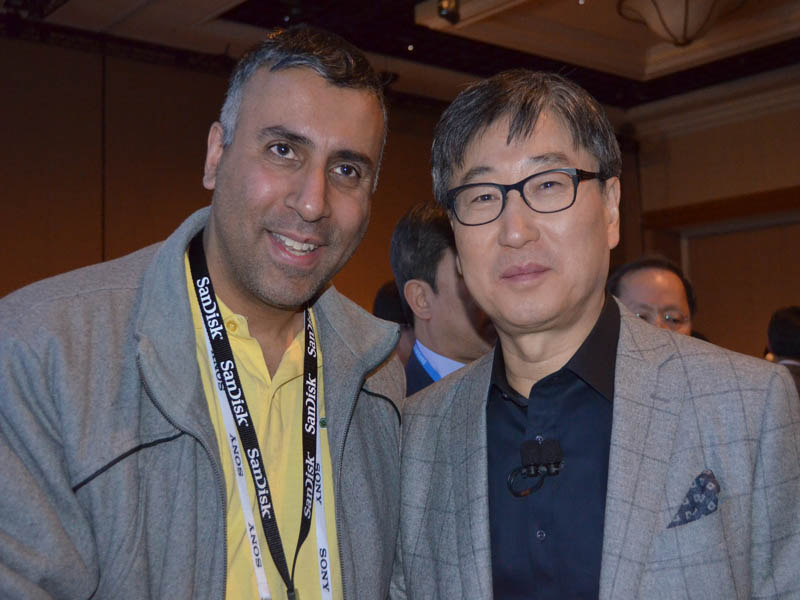 Dr.Abbey with BK Yoon President and CEO Samsung