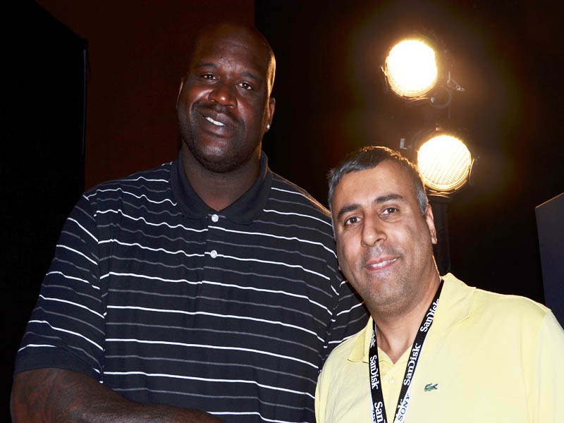 Dr.Abbey with Baskeball Great Shaquille O'Neal