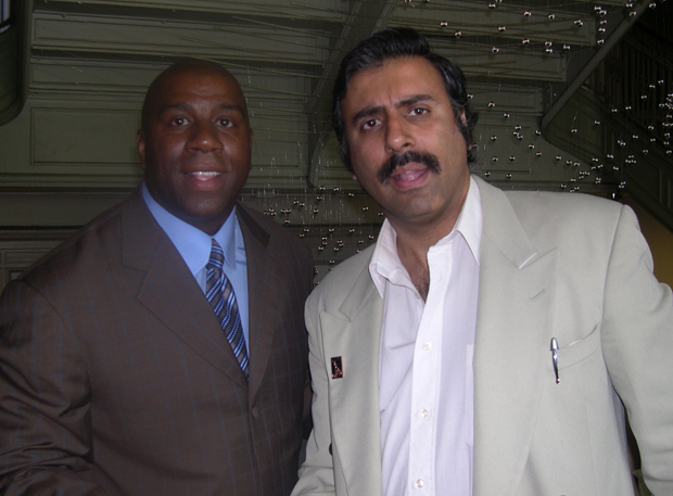 Dr.Abbey with Basketball Great Ervin Magic Johnson