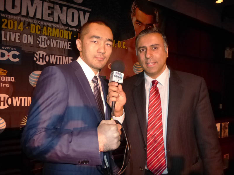 Dr.Abbey with Beibut Shumenov