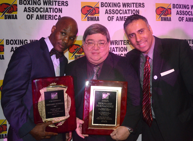 Dr.Abbey with Bernard Hopkins & Bernard Fernandez