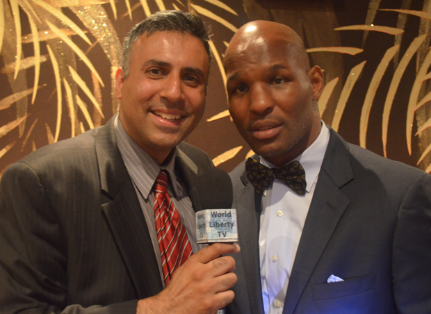 Dr.Abbey with Bernard Hopkins Boxing Great