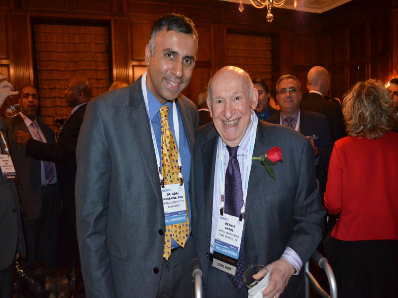 Dr.Abbey with Bernard S.Appel Former Chairman Radio Shack