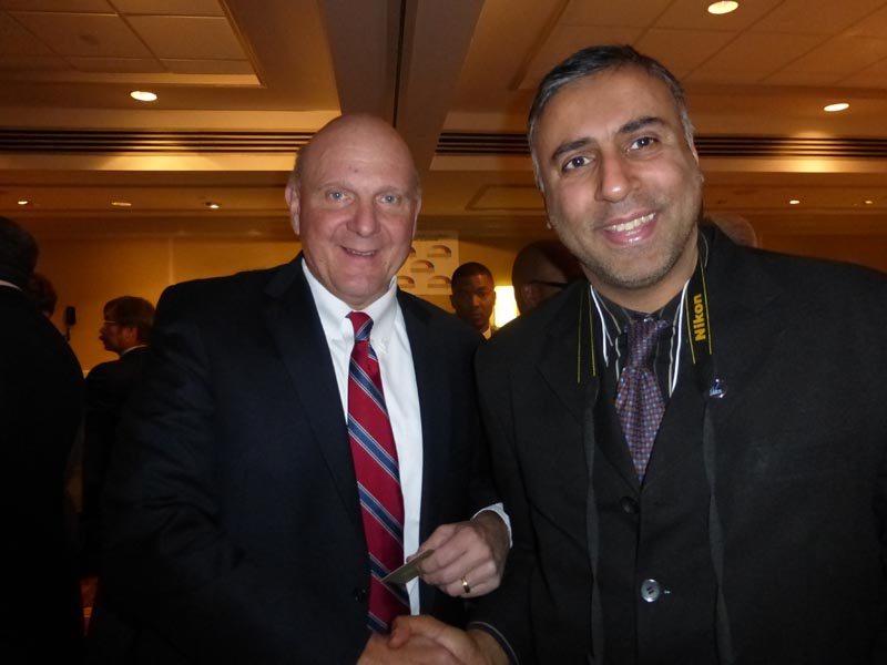 Dr.Abbey with Billionaire Businessman Steve Ballmer
