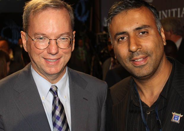 Dr.Abbey with Billionaire Former CEO of Google CEO Eric Schmidt