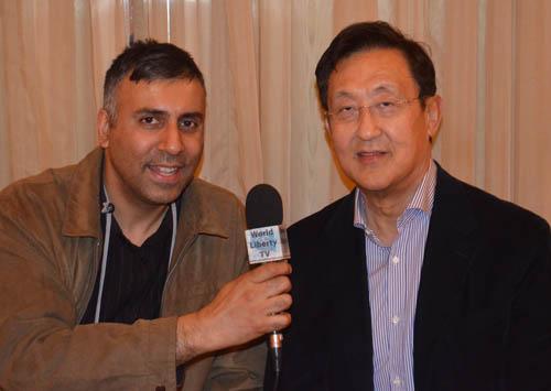 Dr.Abbey with Billionaire  John Tu President Kingston Tech Corp