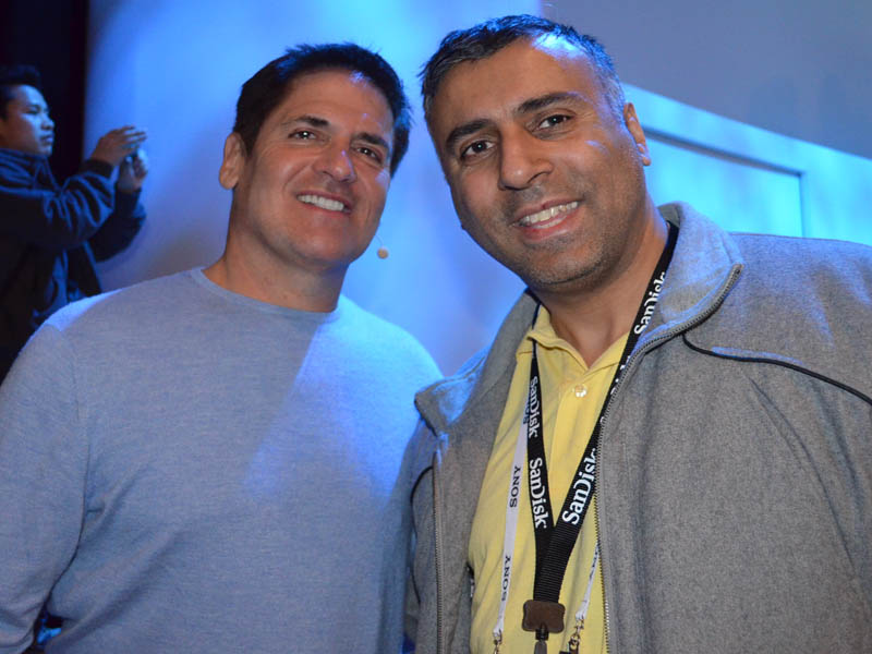 Dr.Abbey with Billionaire Mark Cuban