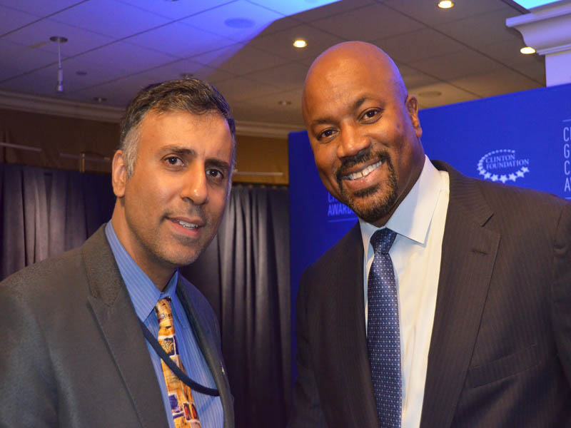 Dr.Abbey with Billy King GM of Brooklyn Nets