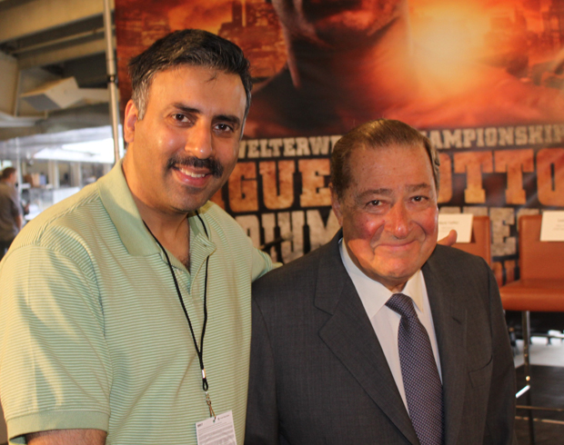 Dr.Abbey with Bob Arum Chairman of Top Rank Boxing