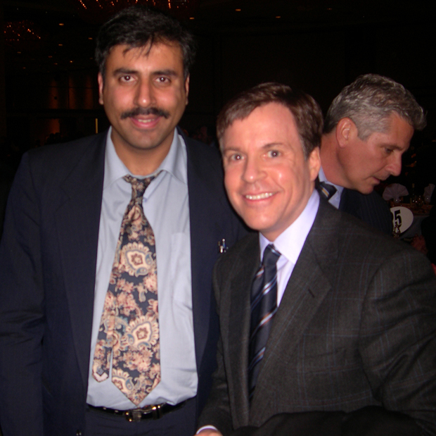 Dr.Abbey with Bob Costas NBC Sports Announcer