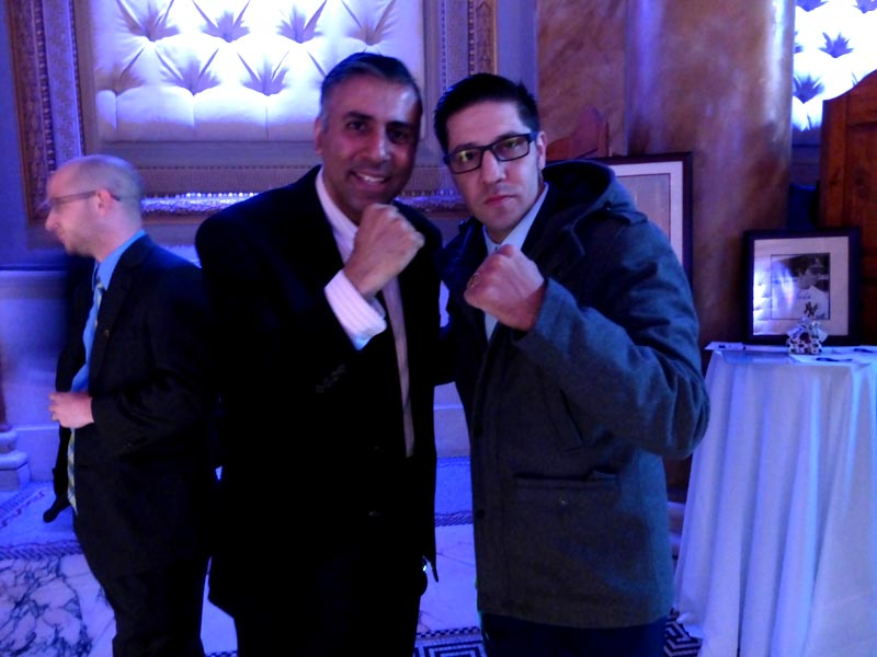 Dr.Abbey with Boxer John Molina