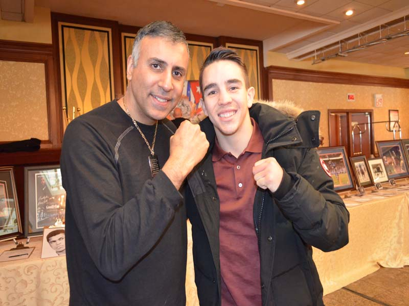 Dr.Abbey with Boxer Michael Conlan