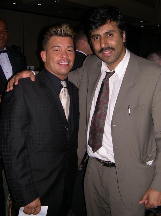 Dr.Abbey with Boxing Champ  Arturo Gatti