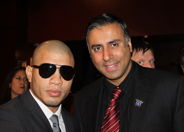 Dr.Abbey with Boxing Champion Miguel Cotto