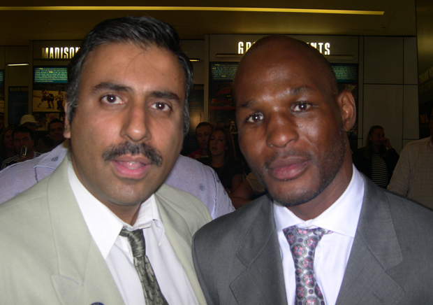 Dr.Abbey with Boxing Great Bernard Hopkins