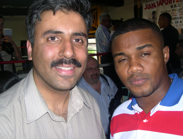 Dr.Abbey with Boxing Great Felix Tito Trinidad