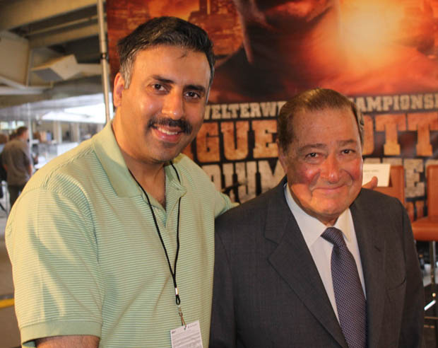 Dr.Abbey with Boxing Promoter Bob Arum