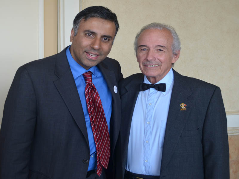 Dr.Abbey with Boxing Referee Tony Perez