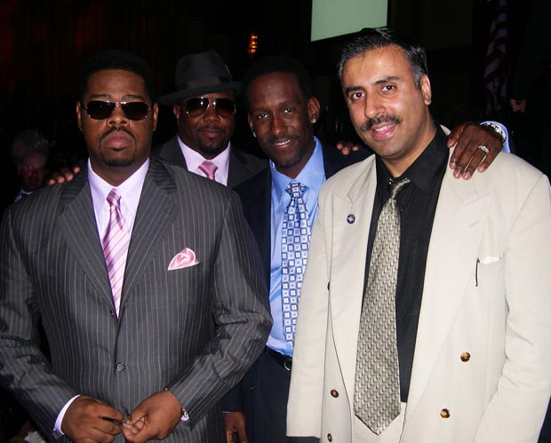 Dr.Abbey with Boyz II Men