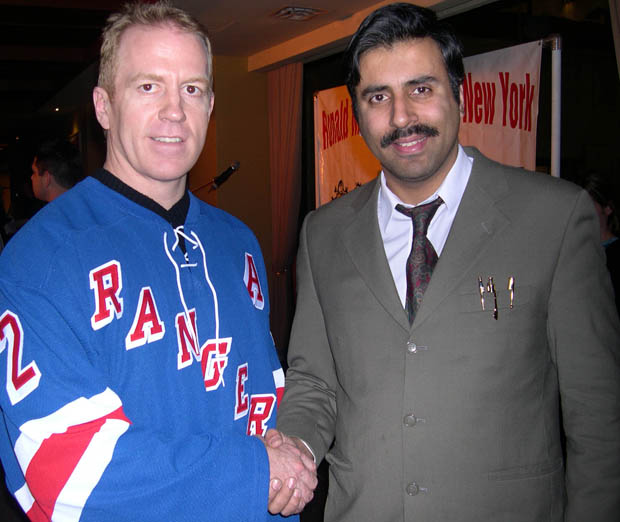 Dr.Abbey with Brian Leetch NY Rangers Captain