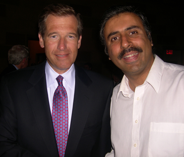 Dr.Abbey with Brian Williams of NBC Nightly News