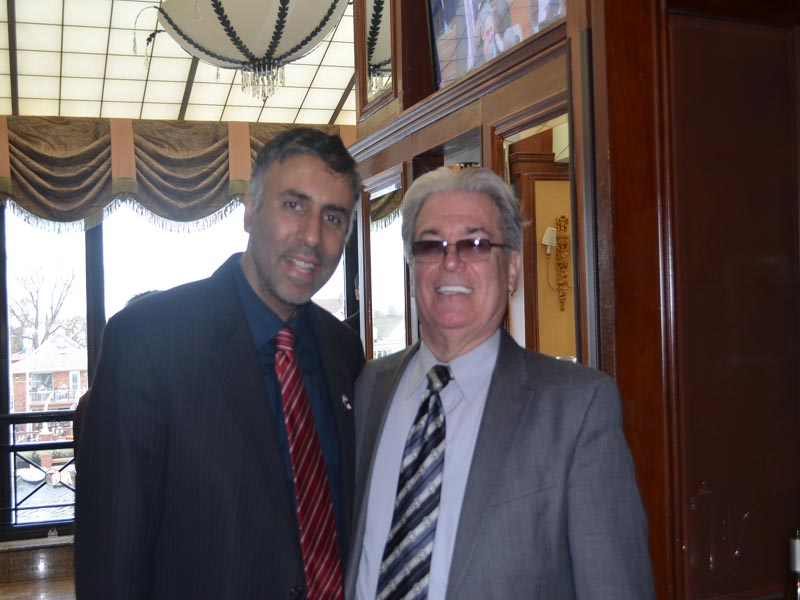 Dr.Abbey with Businessman Frank Russo