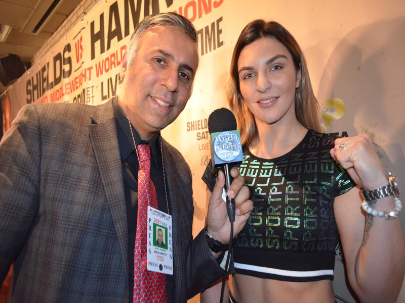 Dr.Abbey with CHRISTINA HAMMER, Unbeaten Middleweight World Champion
