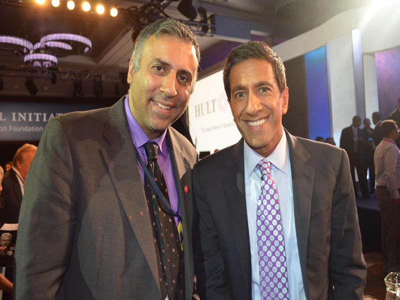 Dr.Abbey with CNN 's Sanjay Gupta